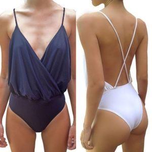Other - NWOT|Black Criss-Cross Back Bodysuit